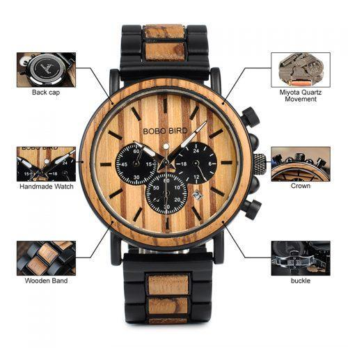 WoodenGoods.hu - Bobo Bird Luxury Chronograph