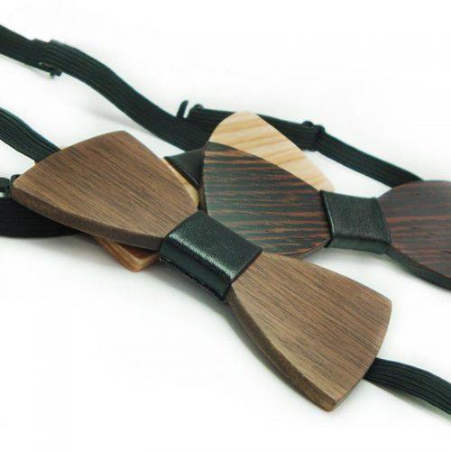 WnG PartyKid Kézzel, Fából Készült Csokornyakkendő Gyerekeknek