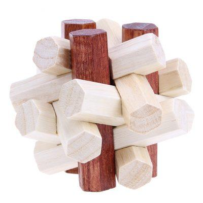 WnG 3D Fa Puzzle - Kongming zár - woodengoods.hu