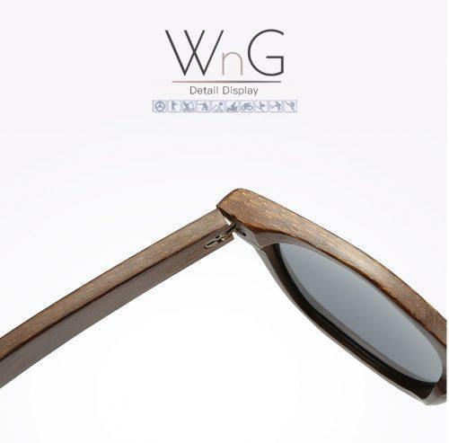 WnG FullWood Charm Fa Napszemüveg - Bambusz Tokban