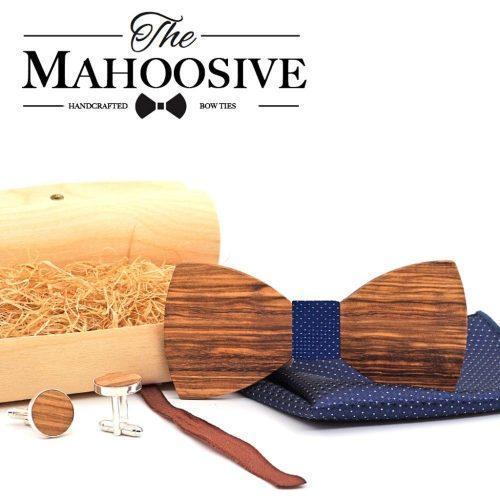 Mahoosive Rounded Full Csokornyakkendő Szett - kék