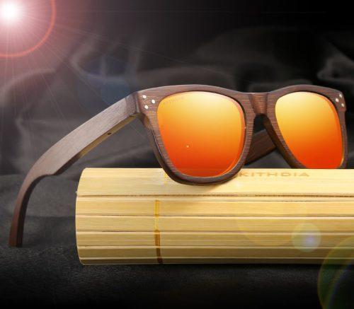 WnG FullWood Charm Fa Napszemüveg - narancssárga