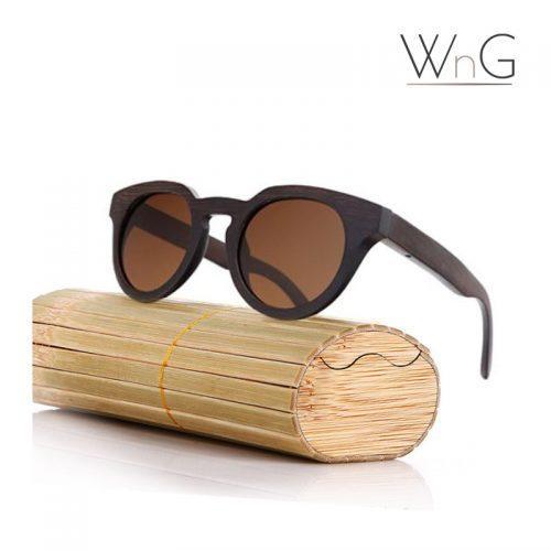 WnG FullWood Branch Fa Napszemüveg Tokkal - sötétbarna/barna