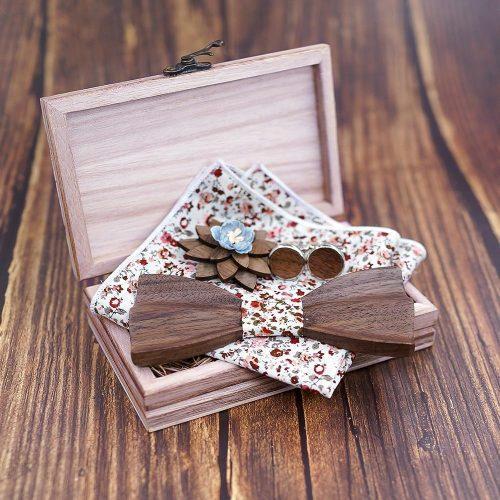 Mahoosive Wave Fa Csokornyakkendő Full Szett – virágos